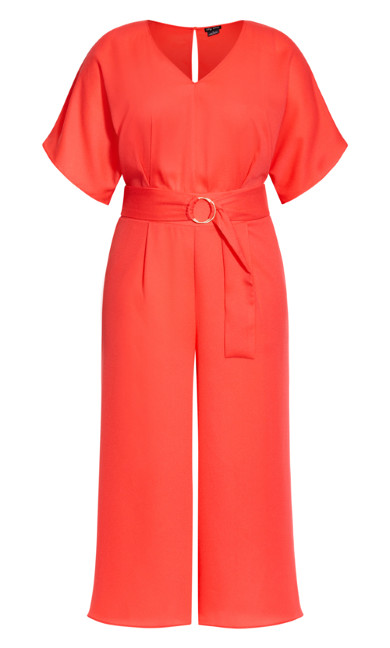 D Ring Jumpsuit - coral