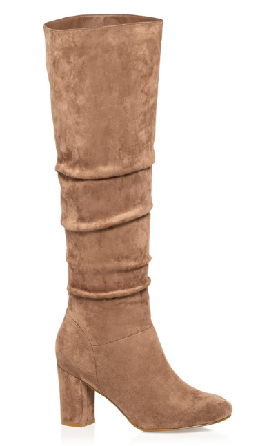 Plus Size Petra Knee High Boot - mushroom