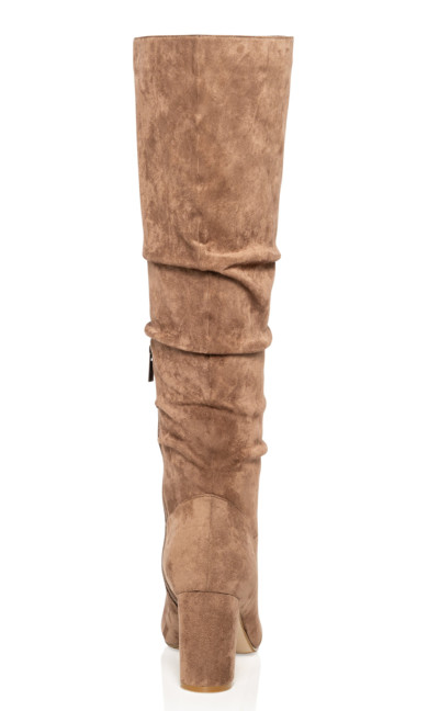 Petra Knee High Boot - mushroom