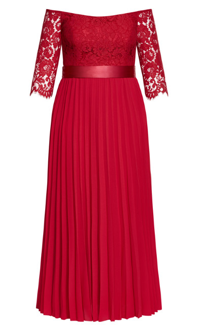 Intriguing Maxi Dress - red
