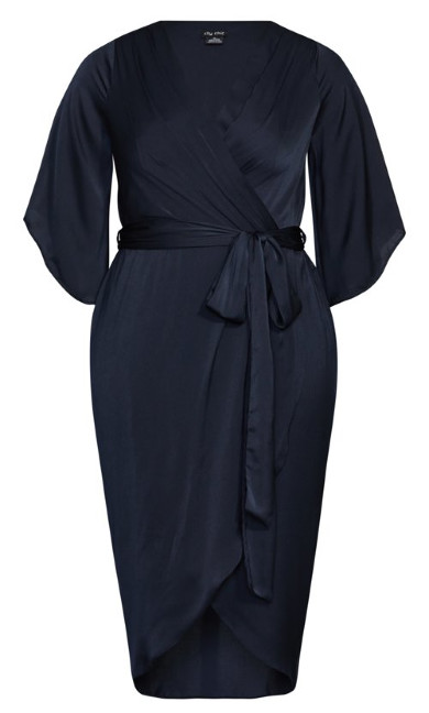 Opulent Wrap Dress - midnight