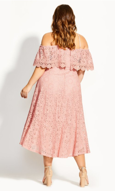 Enticing Lace Dress - pink