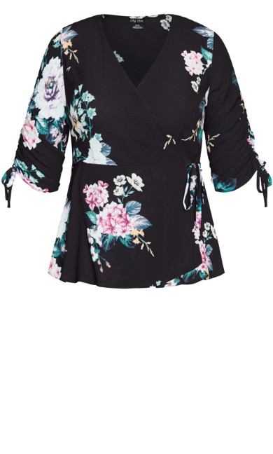 Love Blooms Top - black