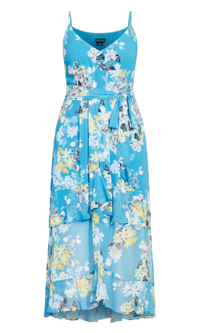 Whisper Floral Maxi Dress - blue