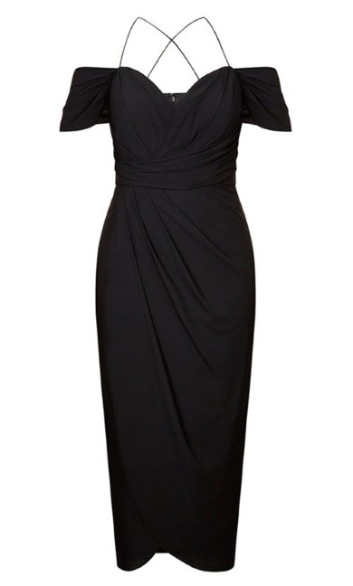 Entwine Maxi Dress - Black