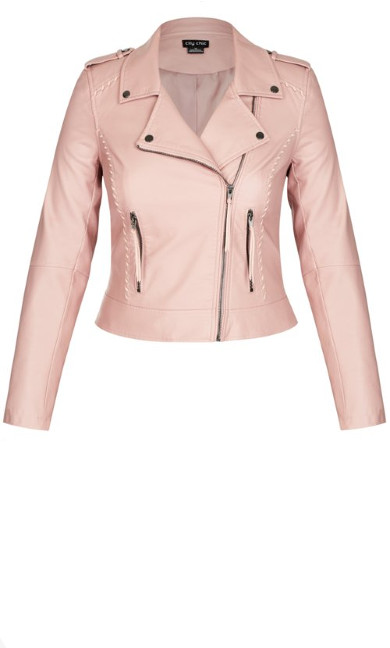 Whip Stitch Biker - blush