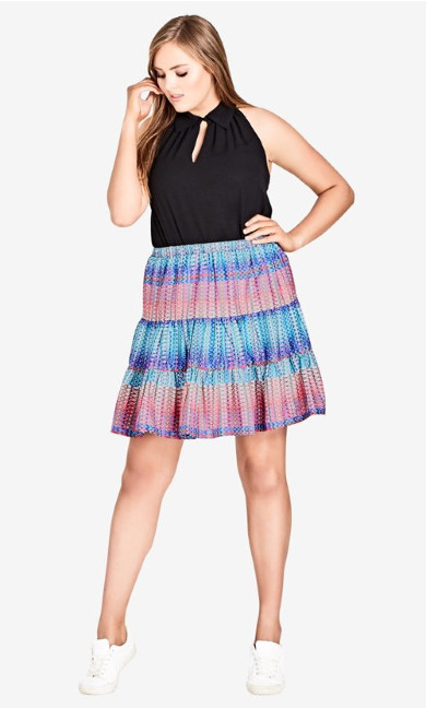 Women's Plus Size Skirt Tiered Up