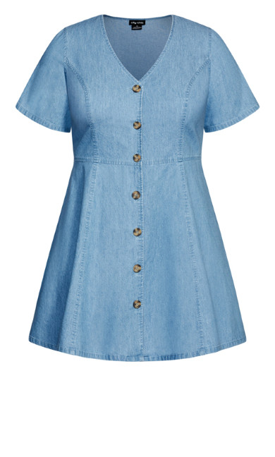 Soft Denim Dress - chambray