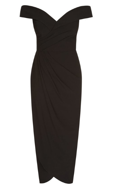 Rippled Love Dress - black