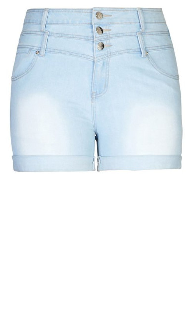Hi Waist Light Short - denim