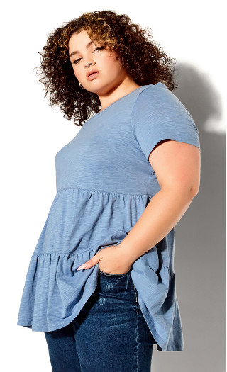 Lexi Tiered Top - blue
