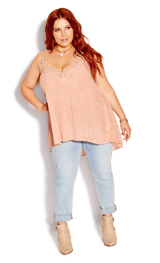 Embroidered Karma Top - rose pearl