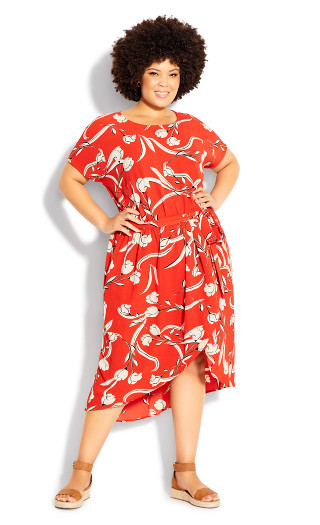 Meant To Be Print Dress - tigerlily