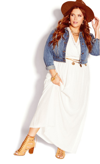 Sweet Embroidered Maxi Dress - ivory
