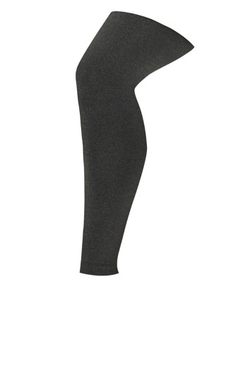 Fleece Lined Footless Tights Gray - average