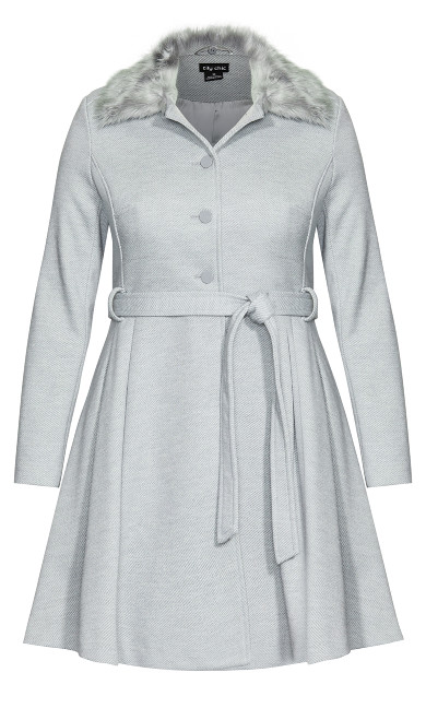 Blushing Belle Coat - silver
