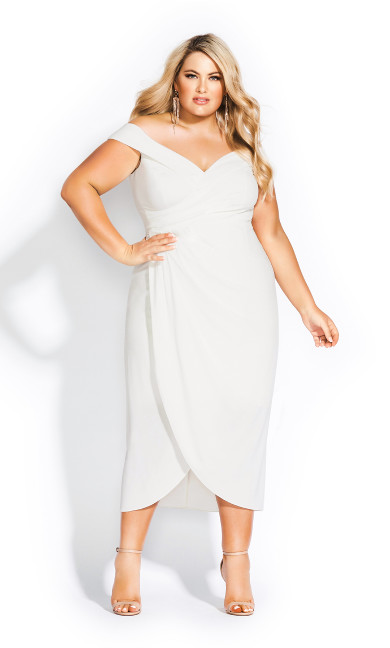 Rippled Love Dress - ivory