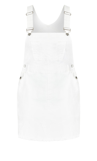 Denim Bib Dress - white