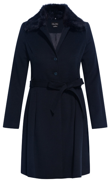 Blushing Belle Coat - navy