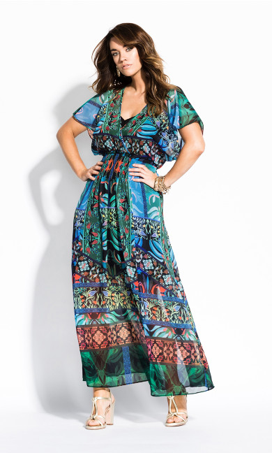 Women's Plus Size Tangier Maxi Dress - black