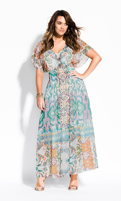 Women's Plus Size Casablanca Maxi Dress - ivory