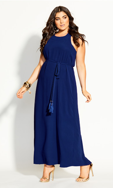 Halter Bliss Maxi Dress - azure