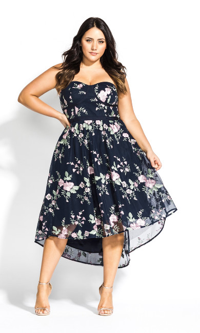 Women's Plus Size Aphrodite Dress - Navy