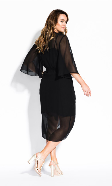 Drawn Up Dress - black