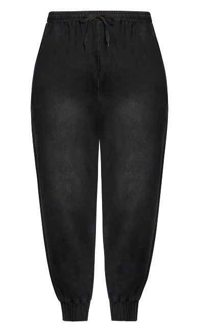 Soft Denim Pant - black