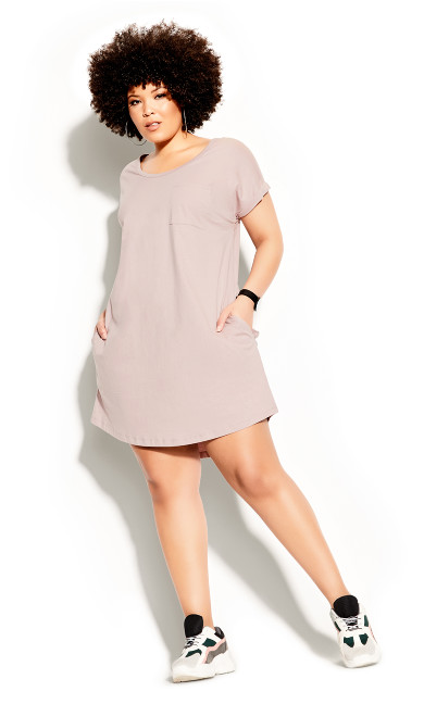 Plus Size Lazy Days Dress - dusty rose