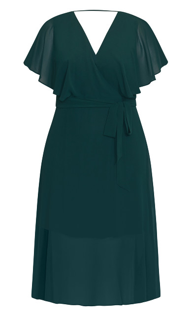 Softly Tied Dress - sea green