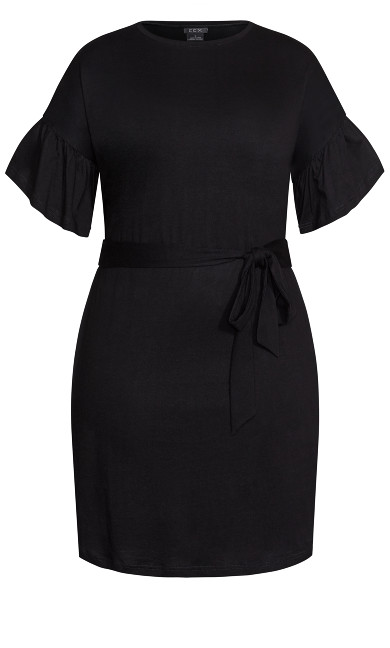 Urban Frill Dress - black