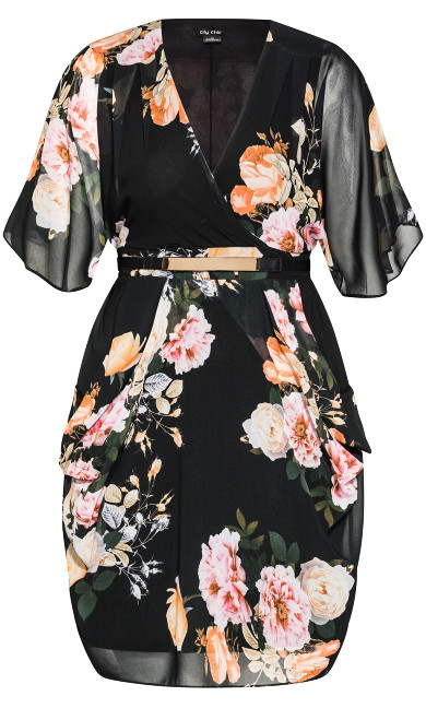Tuscan Rose Dress - black