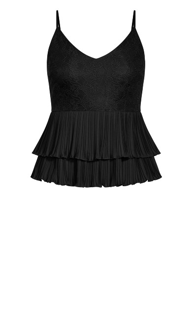 Crystalized Top - black