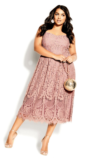 Plus Size Sweetie Darling Dress - rose