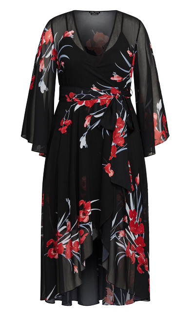 Iris Love Maxi Dress - black