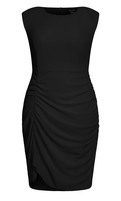 Side Ruch Dress - black