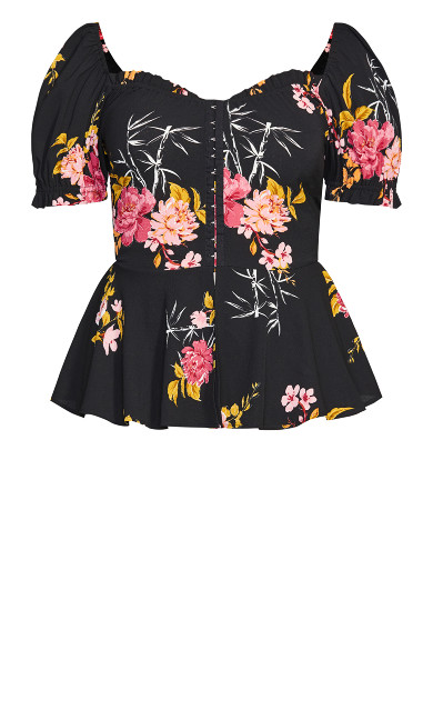Beloved Blooms Top - black