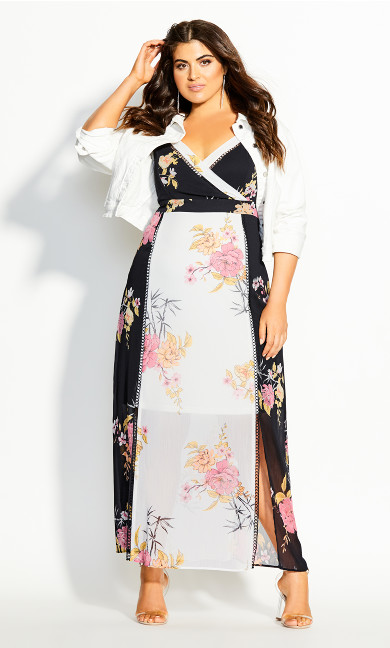 Beloved Bloom Maxi Dress - black