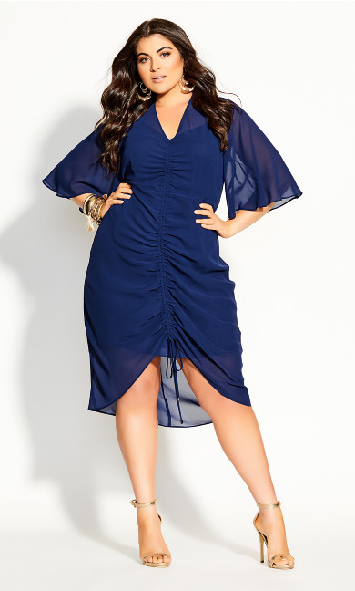 Drawn Up Dress - azure