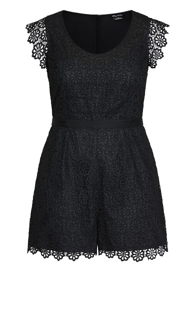 Lace Vibe Playsuit - black