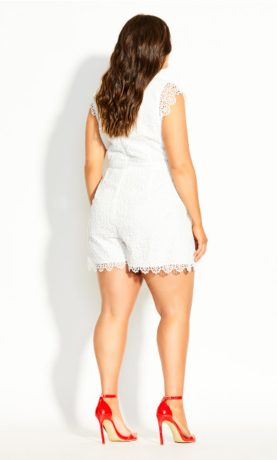 Lace Vibe Playsuit - ivory