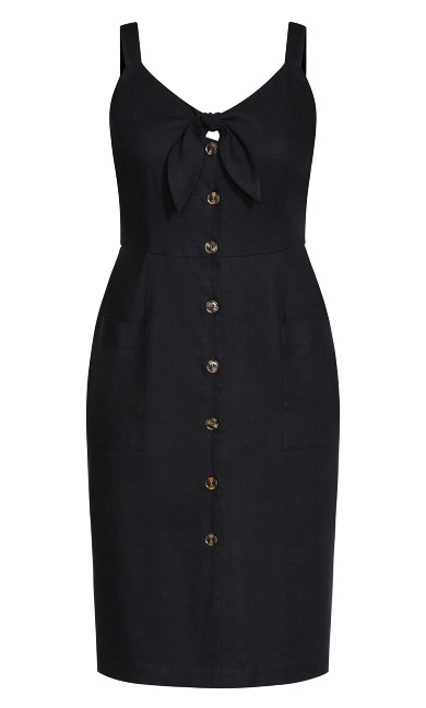 Summer Tie Dress - black