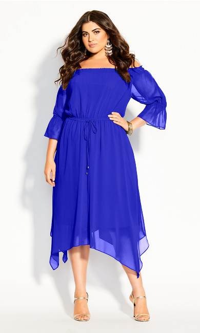 Reflections Dress - cobalt