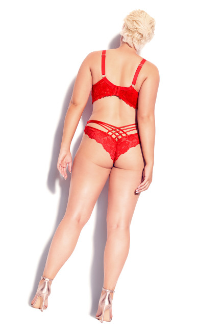 Cosette Lace Demi Bra - red