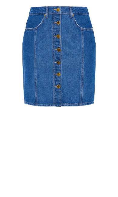 Denim Charm Skirt - denim