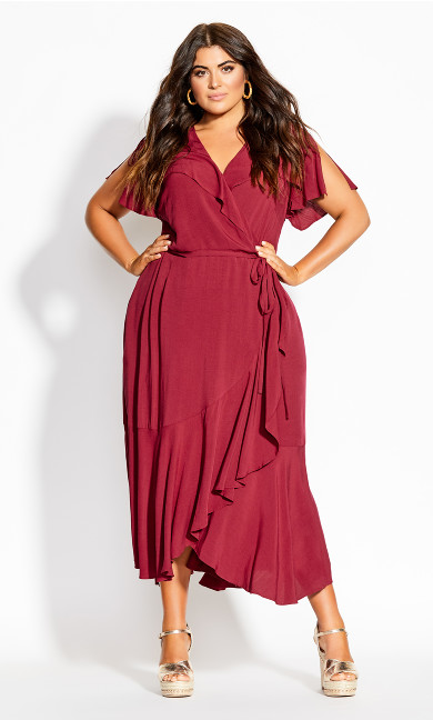 Fiesta Fun Maxi Dress - rhubarb