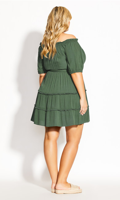 Fiesta Fringe Dress - jungle