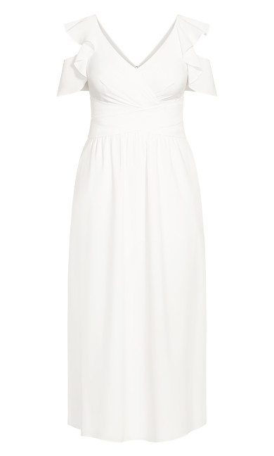 Frill Treasure Maxi Dress - ivory