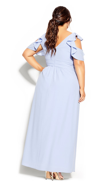 Frill Treasure Maxi Dress - powder blue
